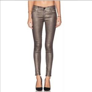 J Brand | Coated Gold Skinny Jeans